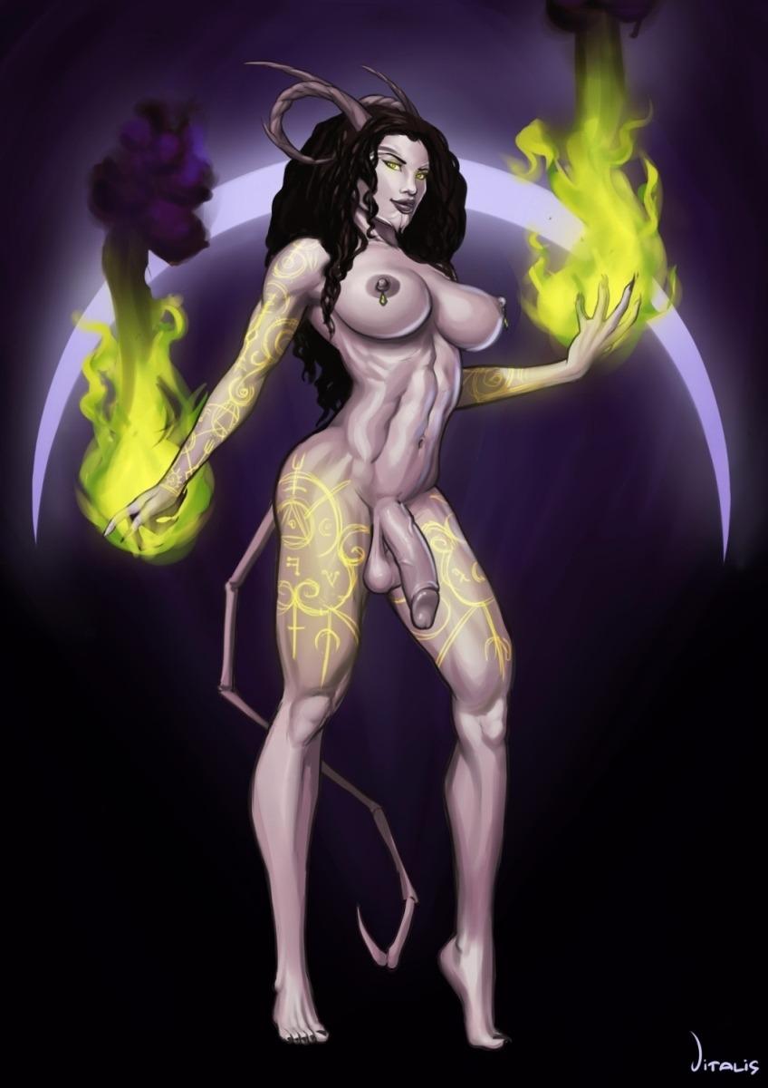 Succubus - Demonic Form (Shemale)