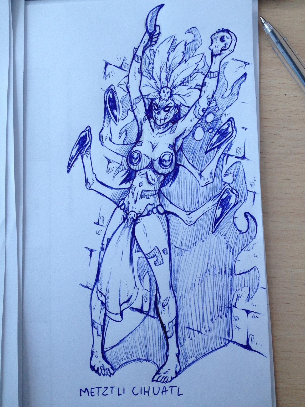 Aztec Priestess Horror