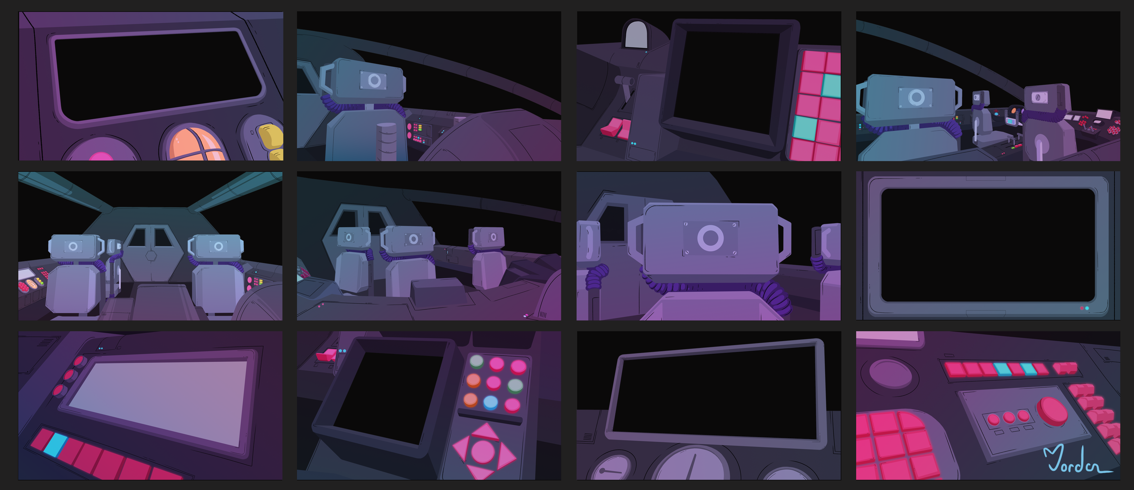 Space Ship Background Board