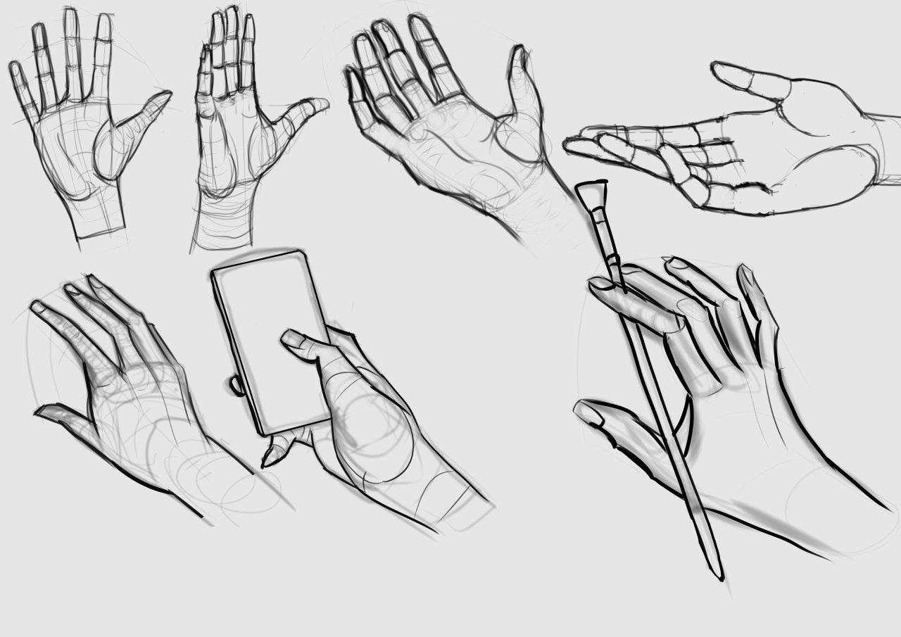 Hands study sketch