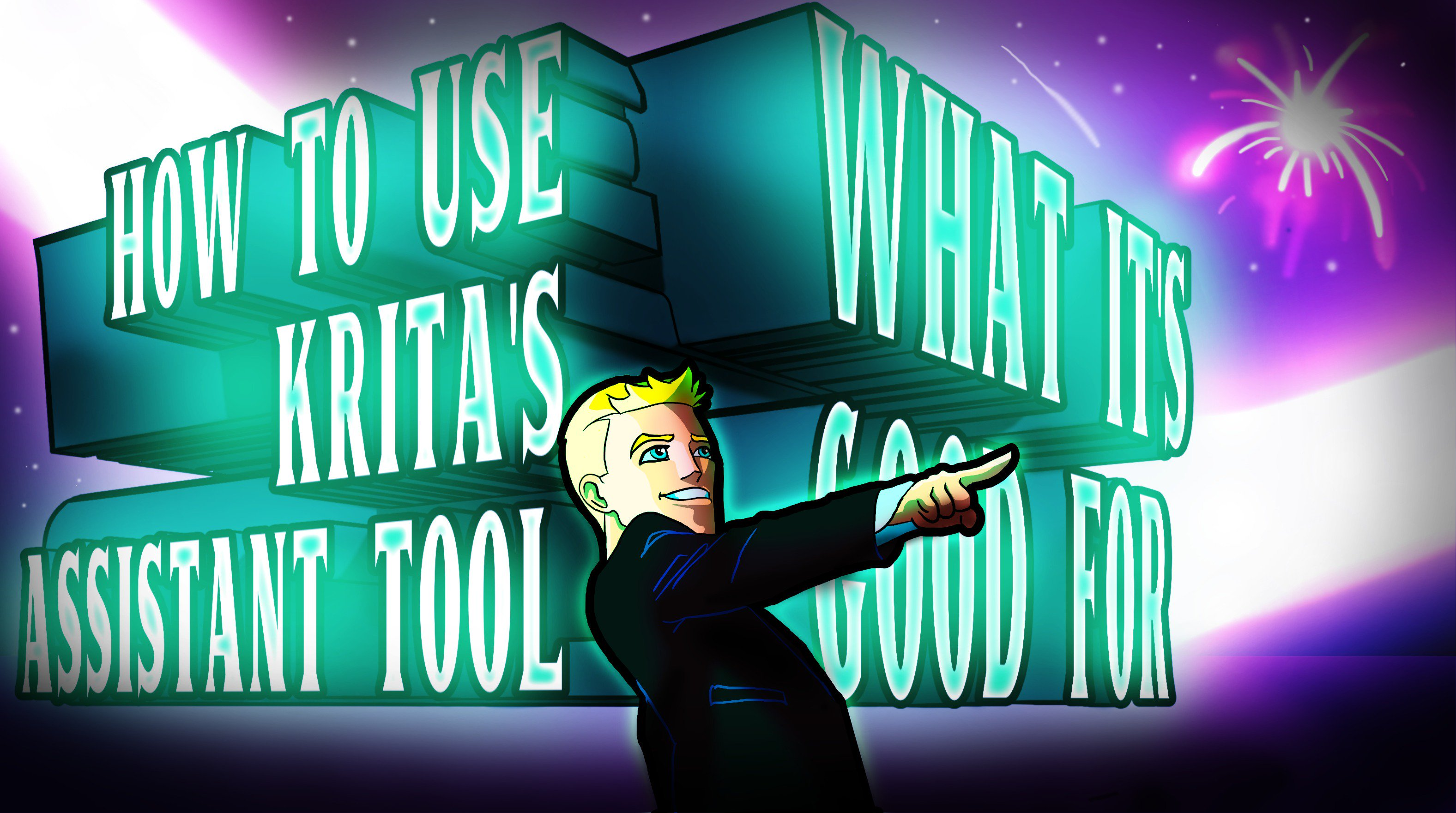 Krita's Assistant Tool: How Use It, What It's Good For