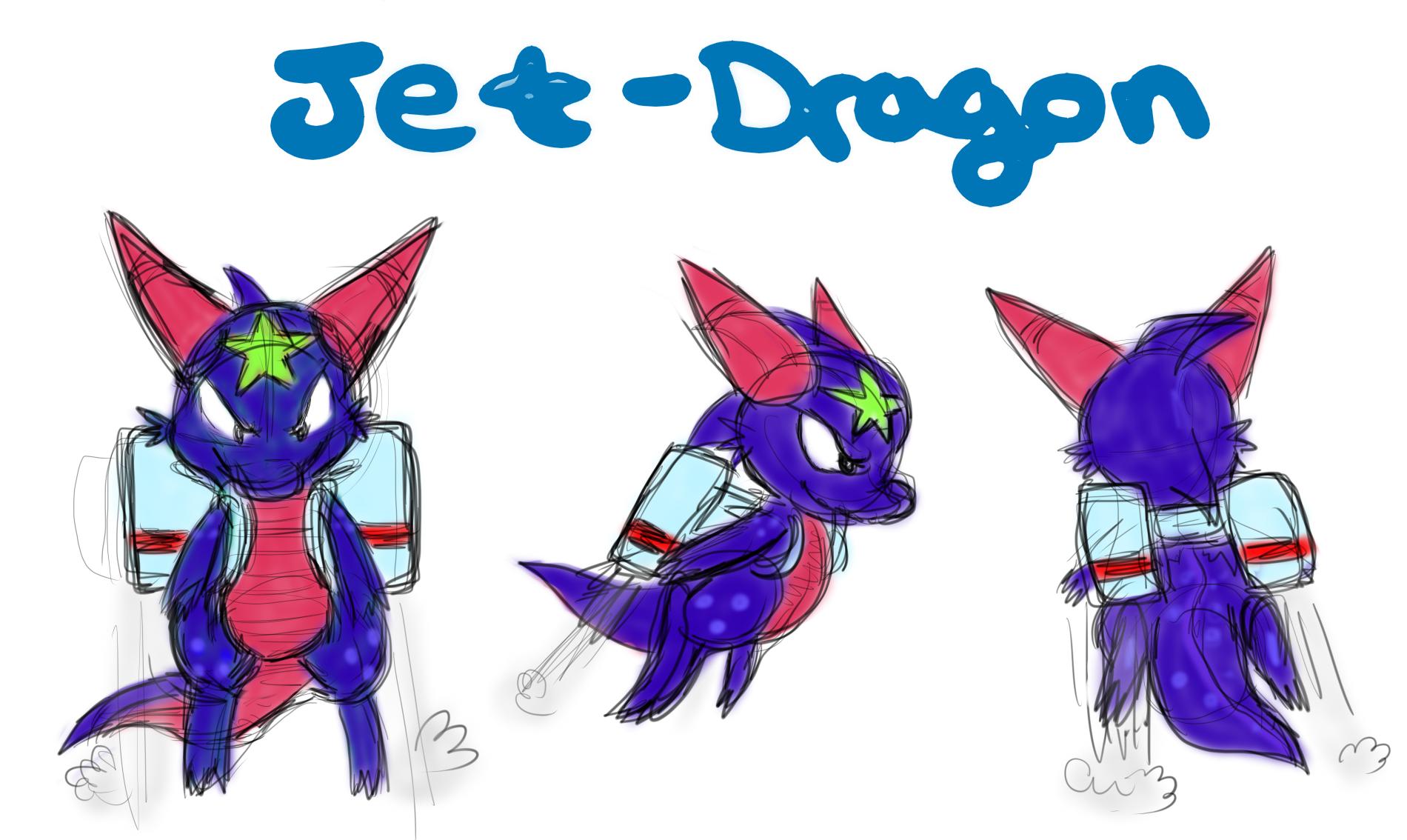 Jet-Dragon Concept Art