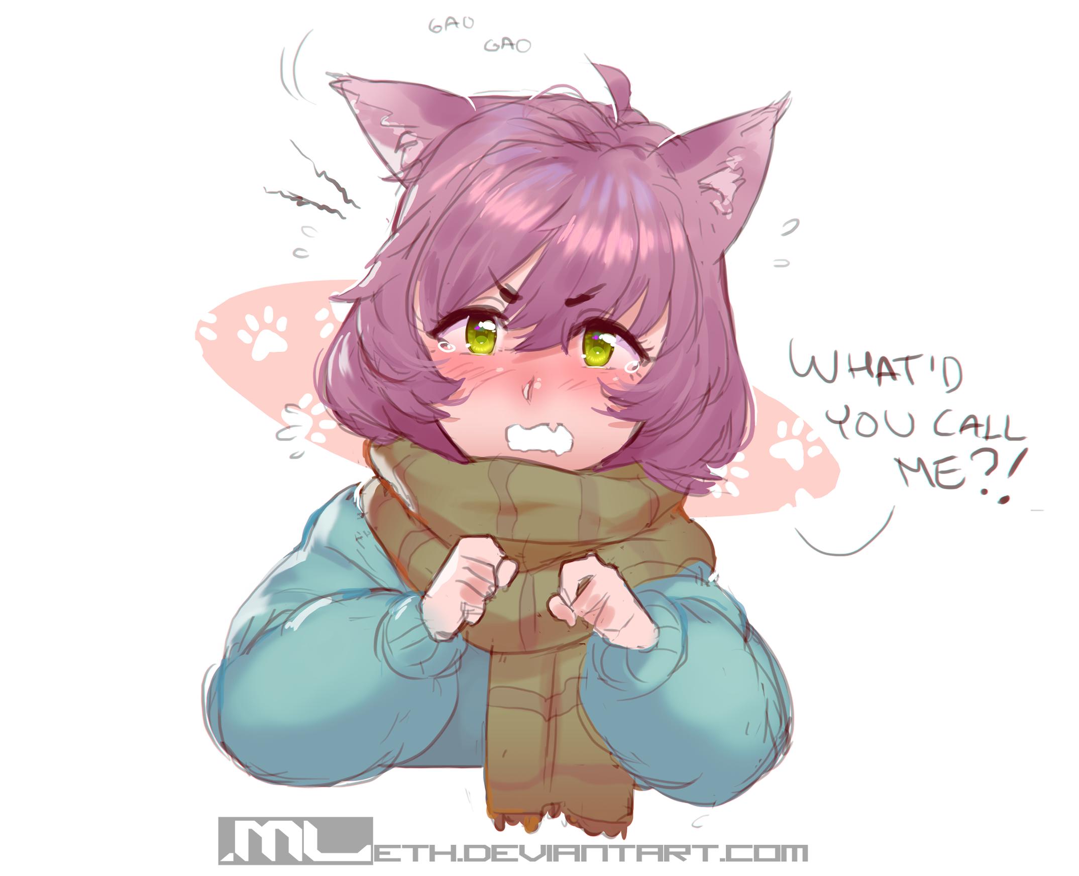 Disgruntled Neko Girl