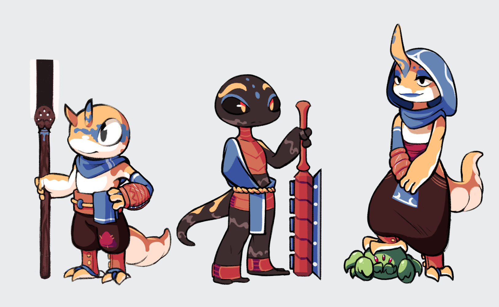 Game Character Design- Allegheny and Kaida