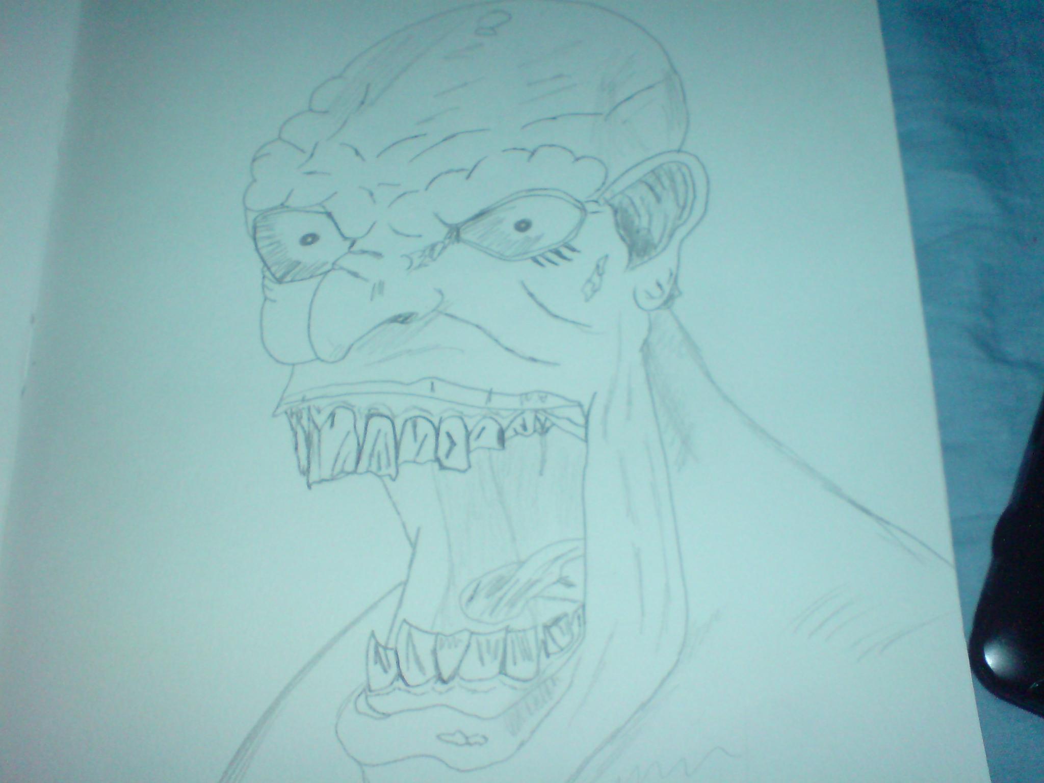 Zombie! (pencil)