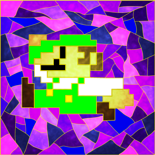 Stained Glass Luigi