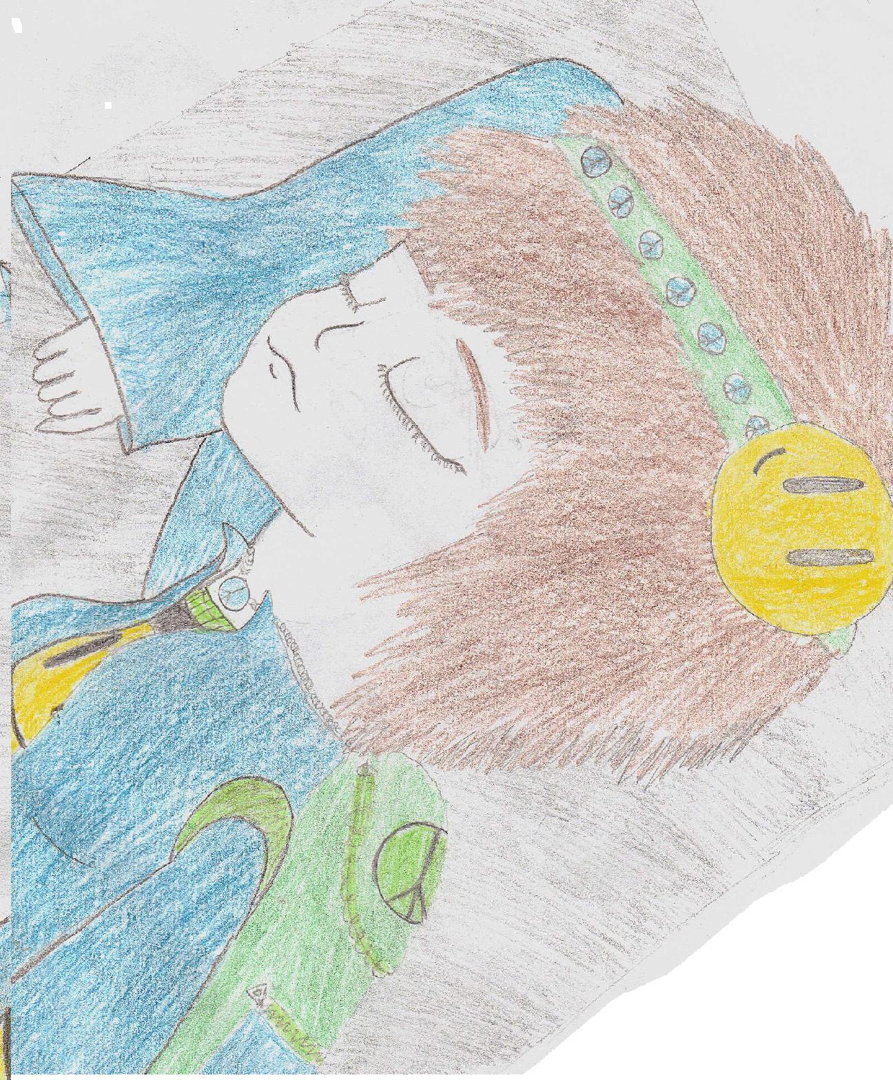 runaway hippie (sleeping)