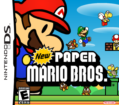 New Paper Mario Bros  (Front Cover) by MrHotDog77 on Newgrounds
