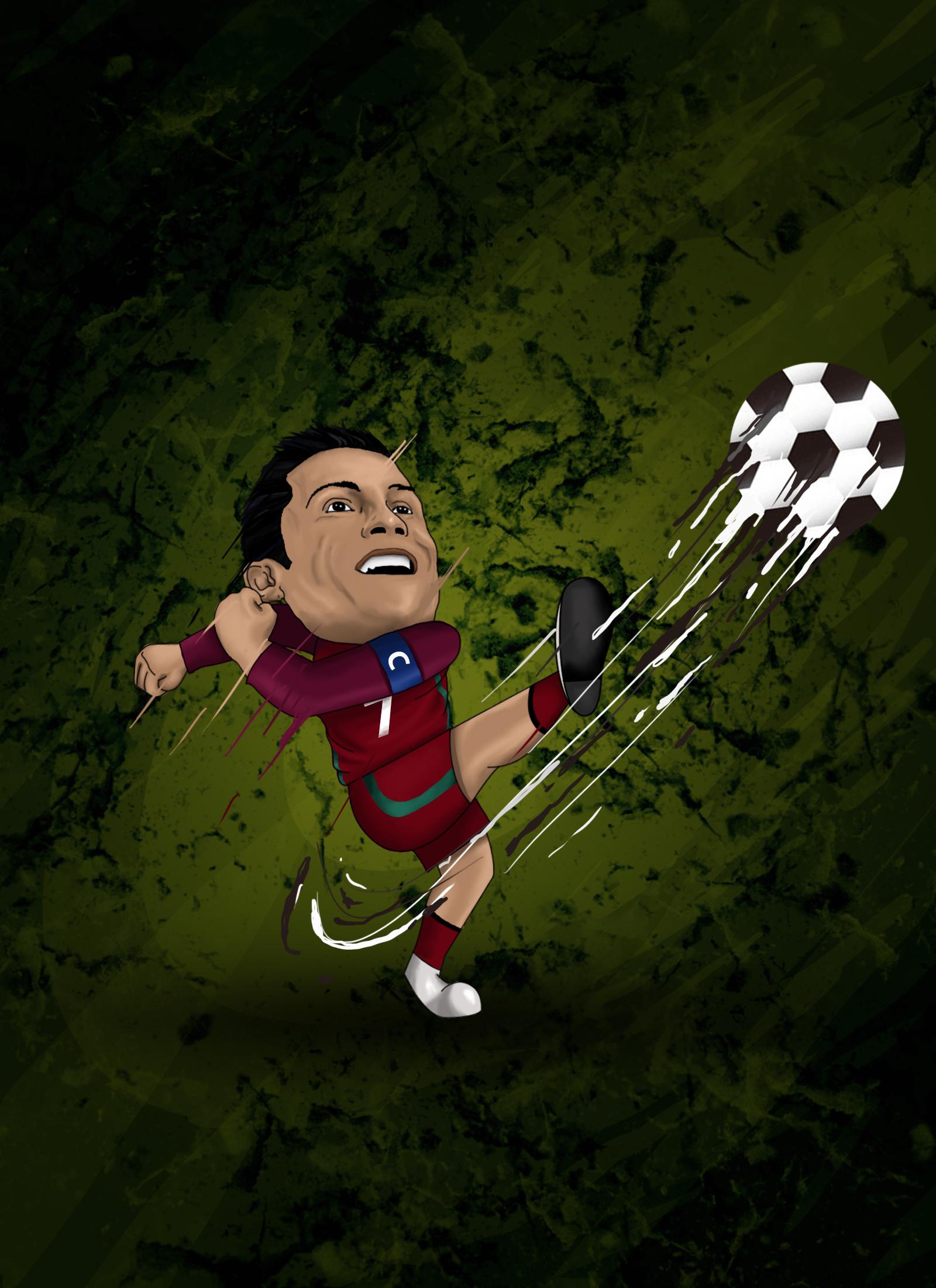 Ronaldo Cartoon By Ashisanimation On Newgrounds