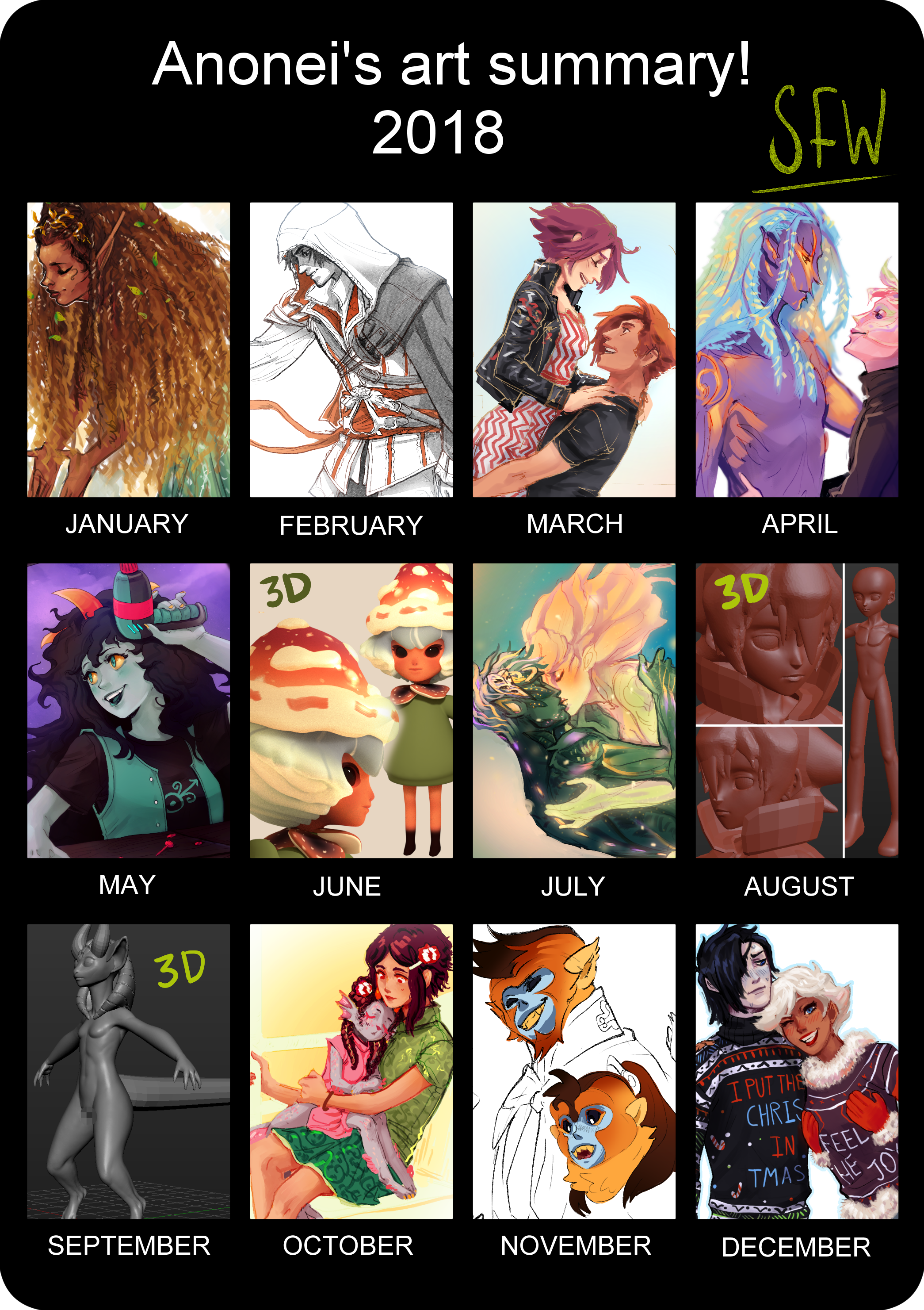 2018 SFW ART REVIEW! [out of order]