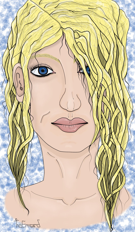 Blonde woman portrait !