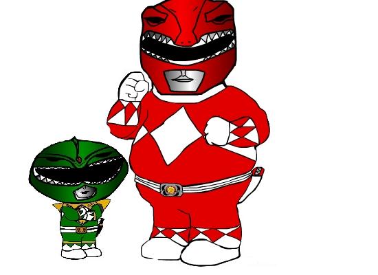Stewie and Peter Power Rangers