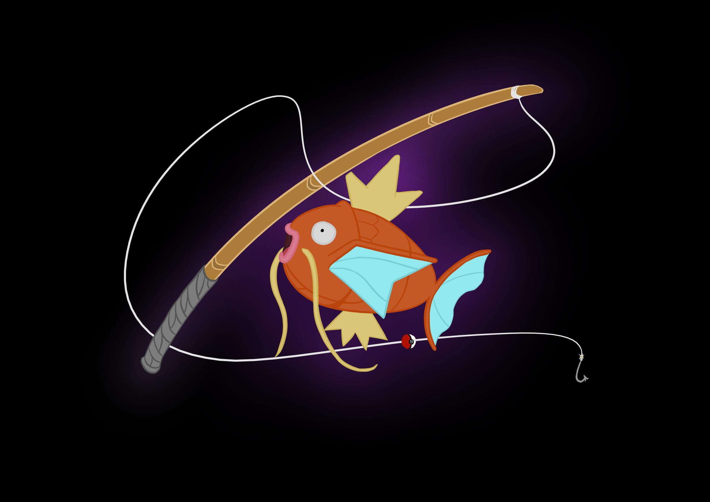 Magickarp fishing logo