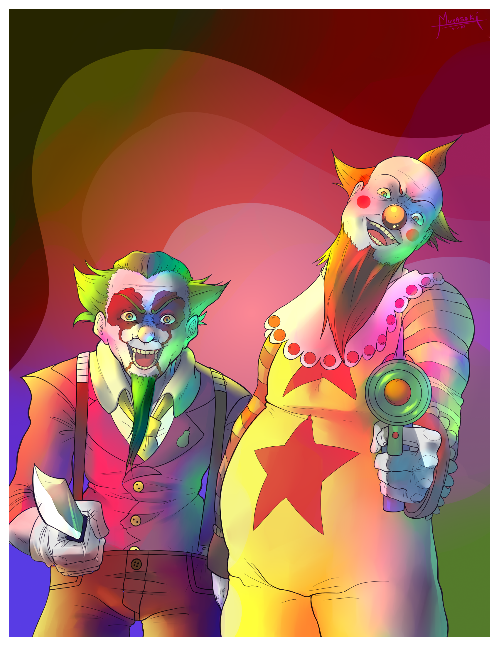 Killer Clows from Outer Space (Commission)