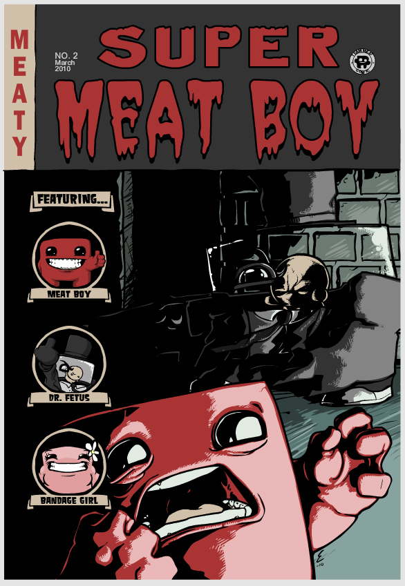 Super Meat Boy Comic Cover #2
