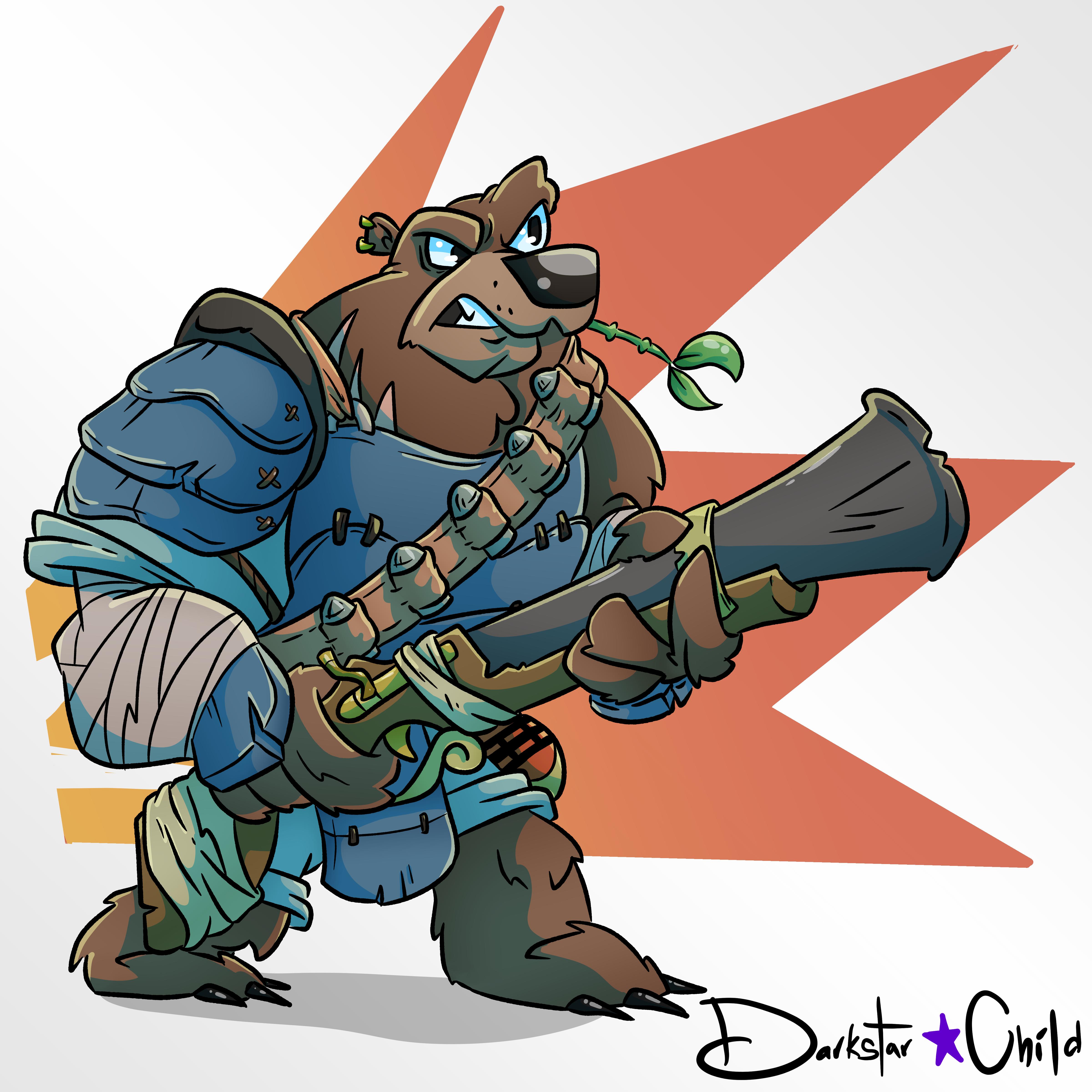 Samurai Bear Gun Guy!