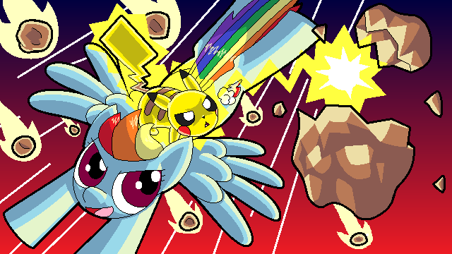 Pikachu in Equestria Teaming up to Survive the Apocalypse
