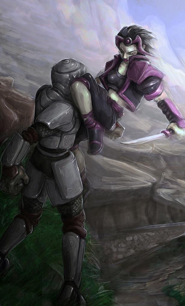Zev vs Zelotian Soldier