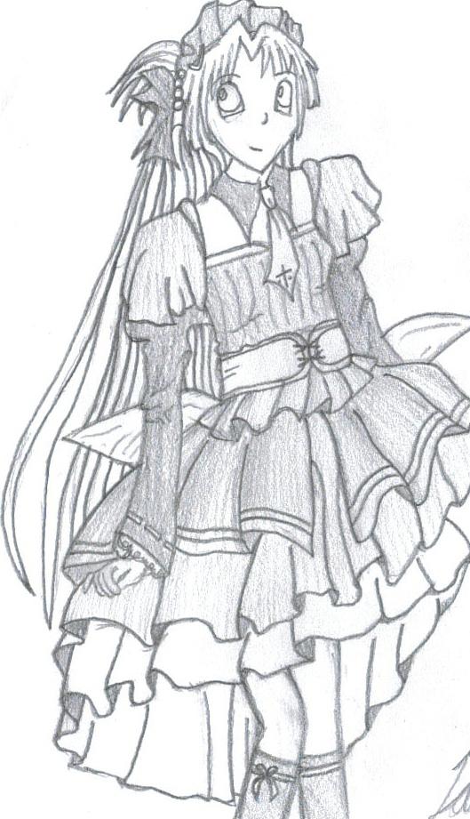 Anime Gothic Girl