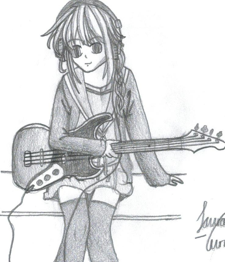 Anime Guitar Girl