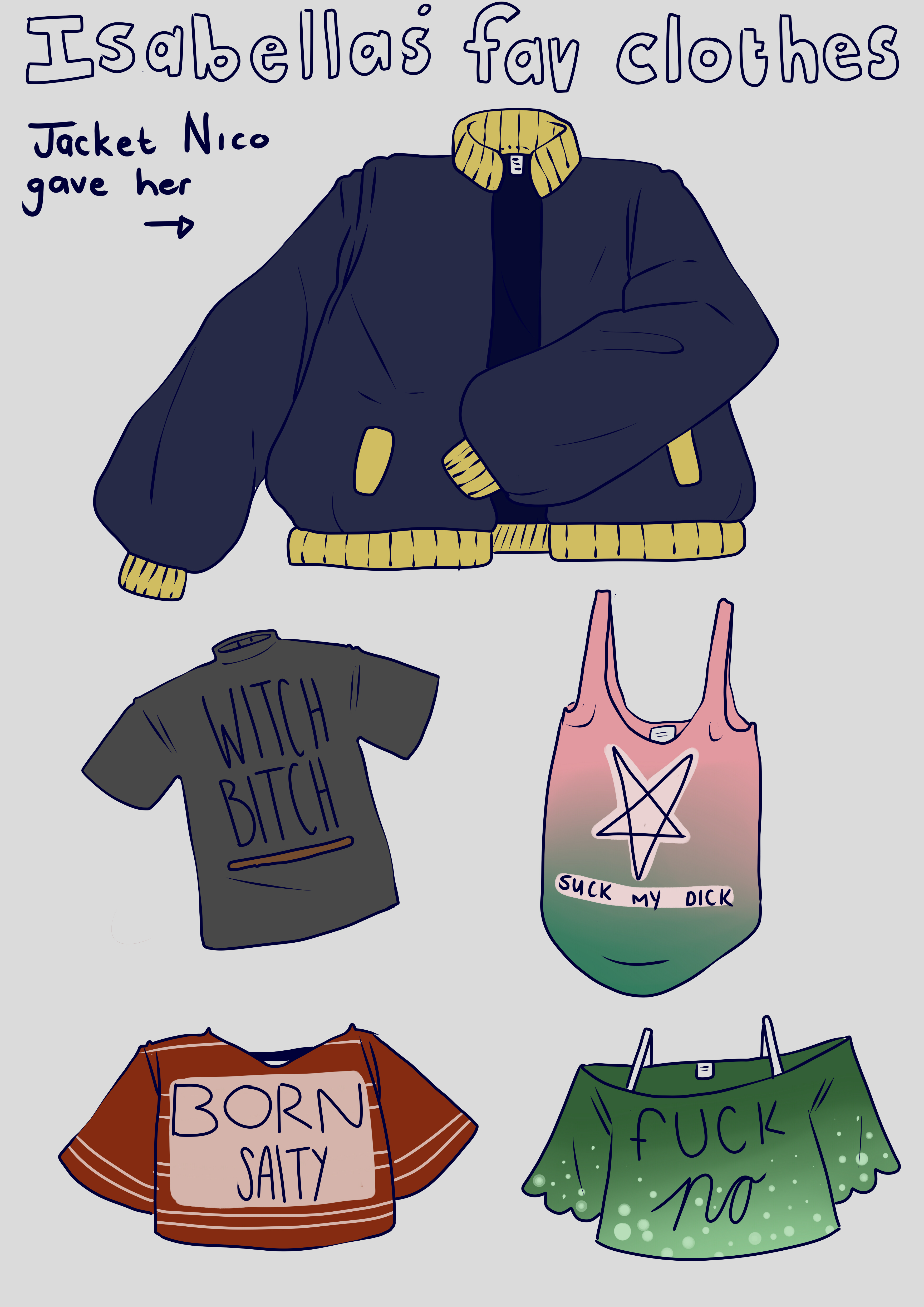 Isabella's fav clothes