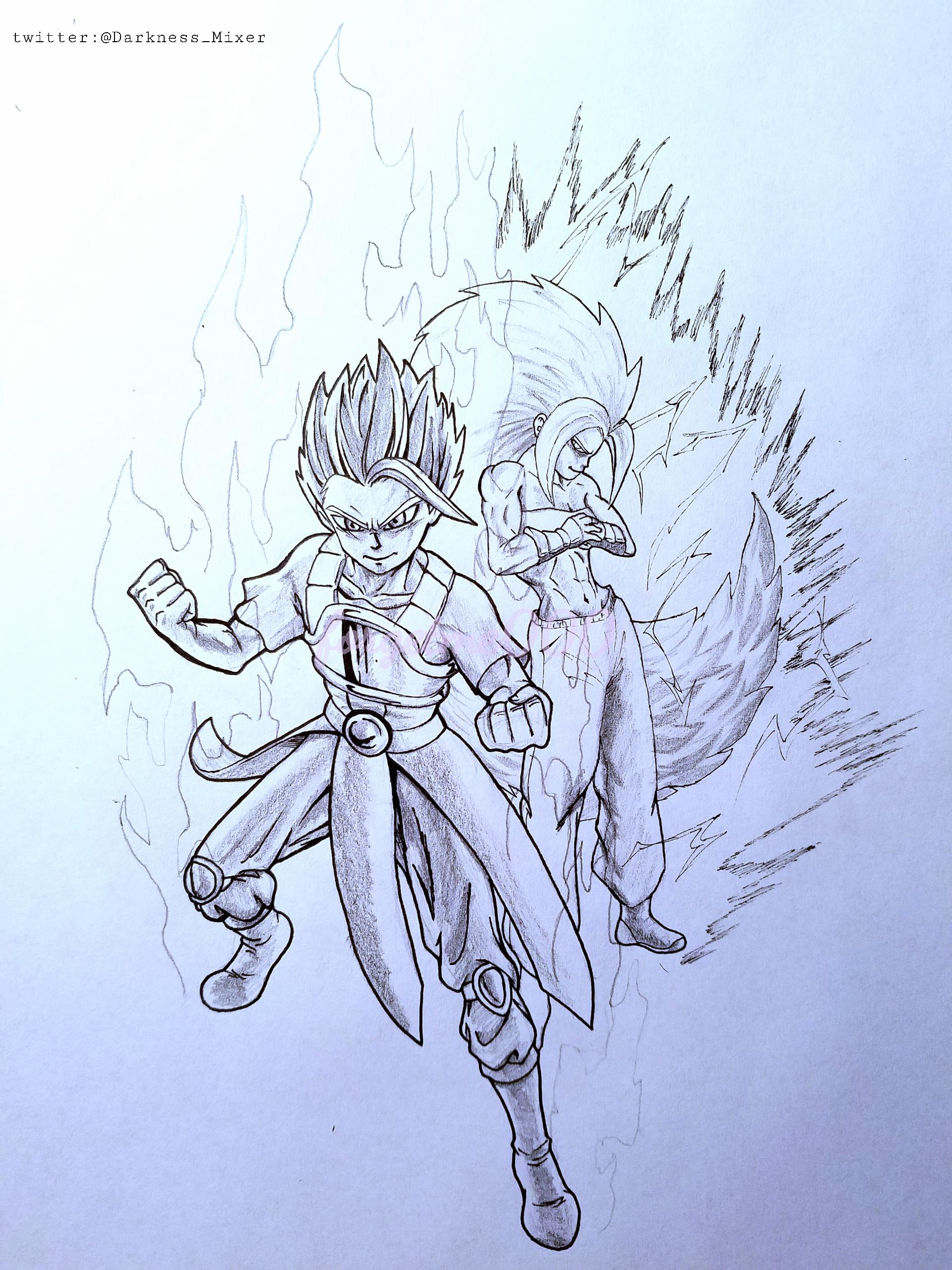 Cabba and Caulifla (dragon ball)