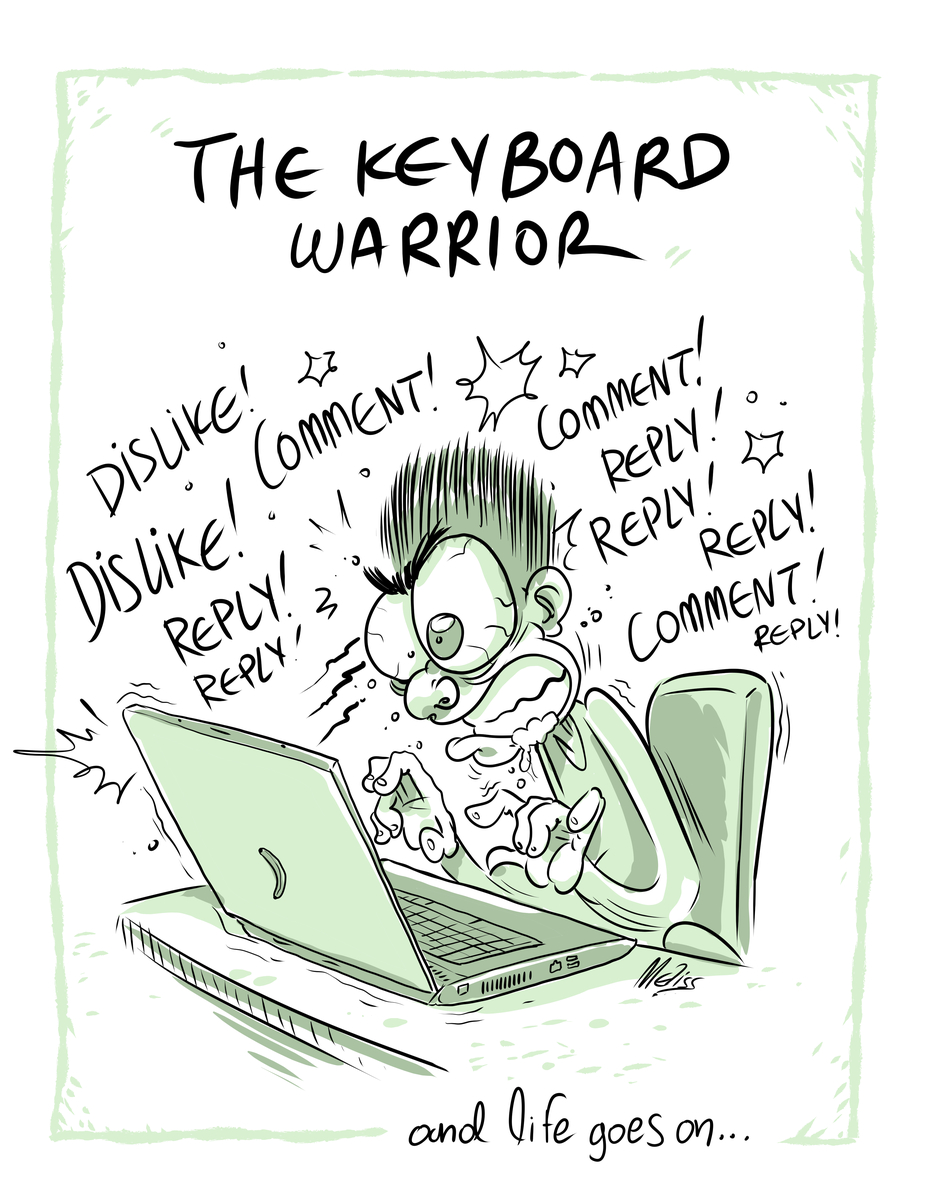 The keyboard warrior