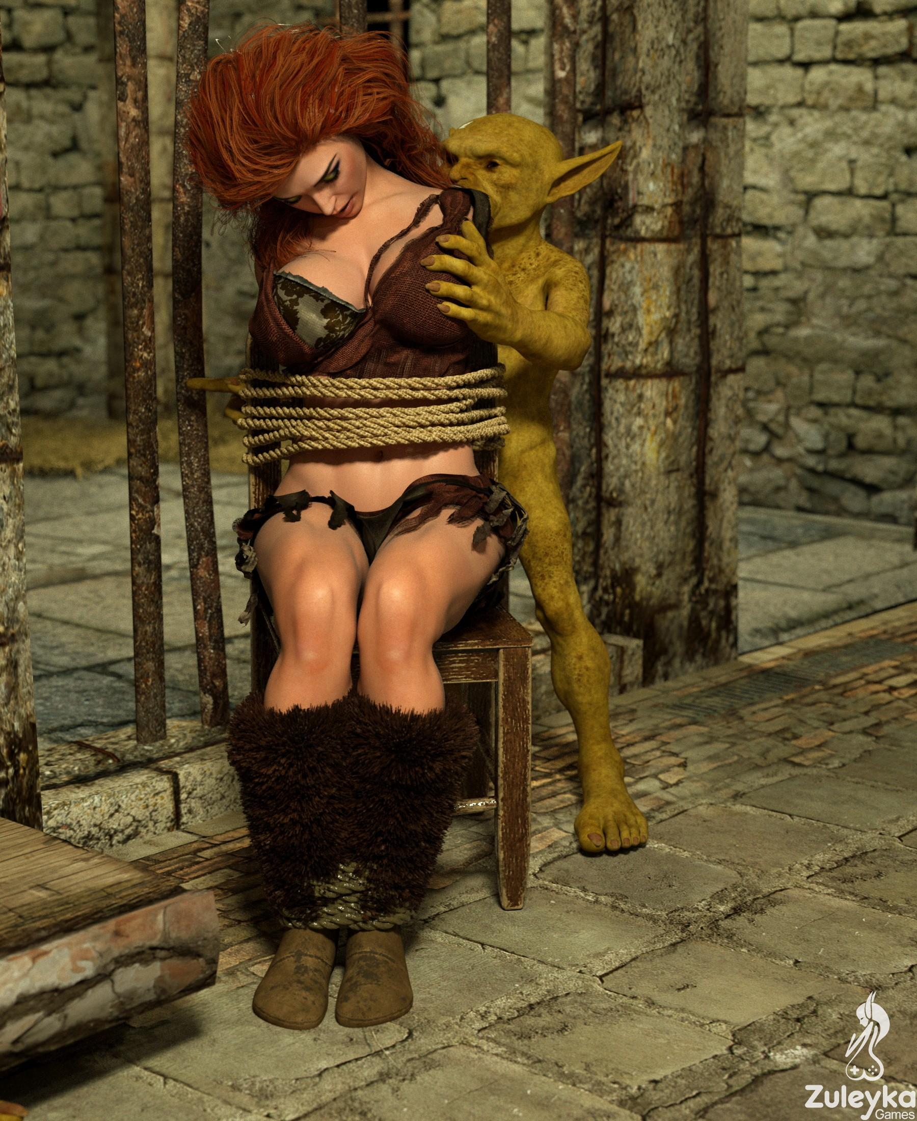 RED SONIA VS GOBLINS - Captured Sonia