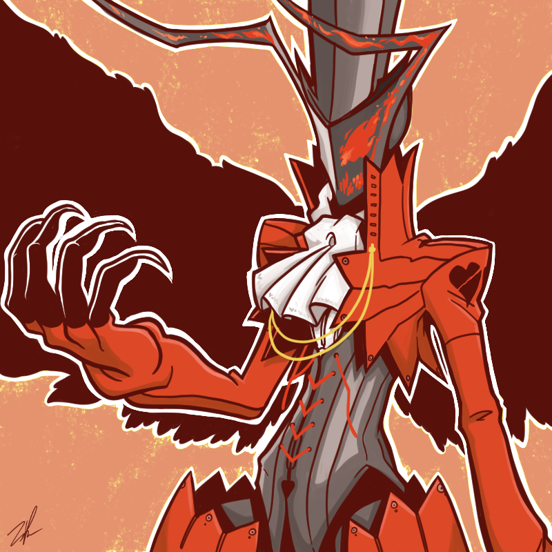 Persona 5 Arsene By Zachpaulusart On Newgrounds He has big black wings and wears red clothes. persona 5 arsene by zachpaulusart on