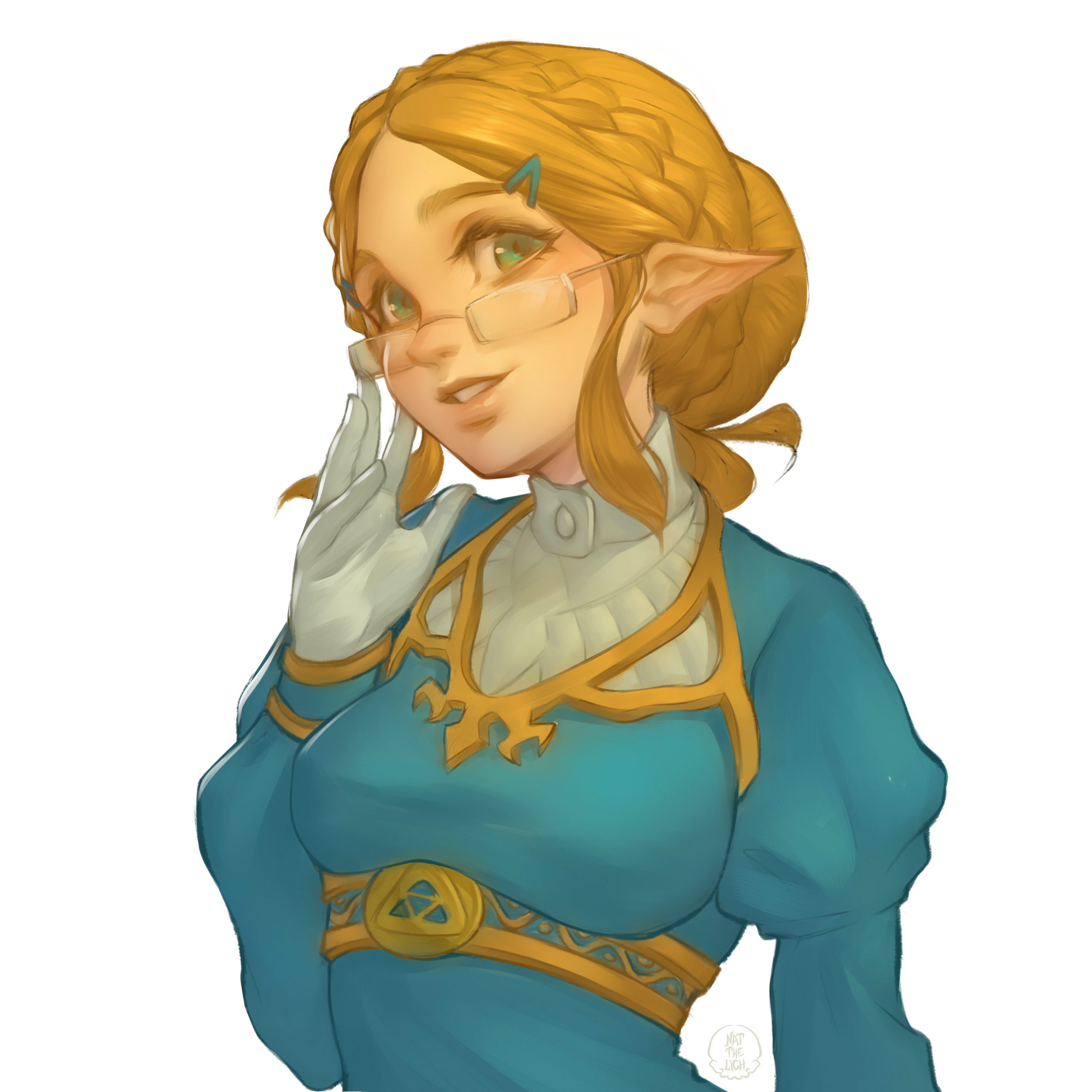 Breath of the Wild - Zelda (with glasses)