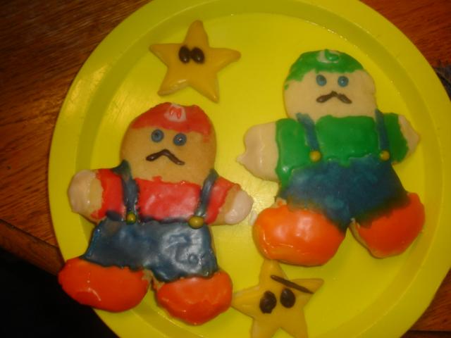 mario cookies!!