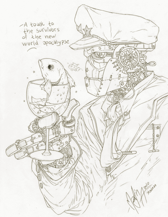 Shad The mans Robot Art trade