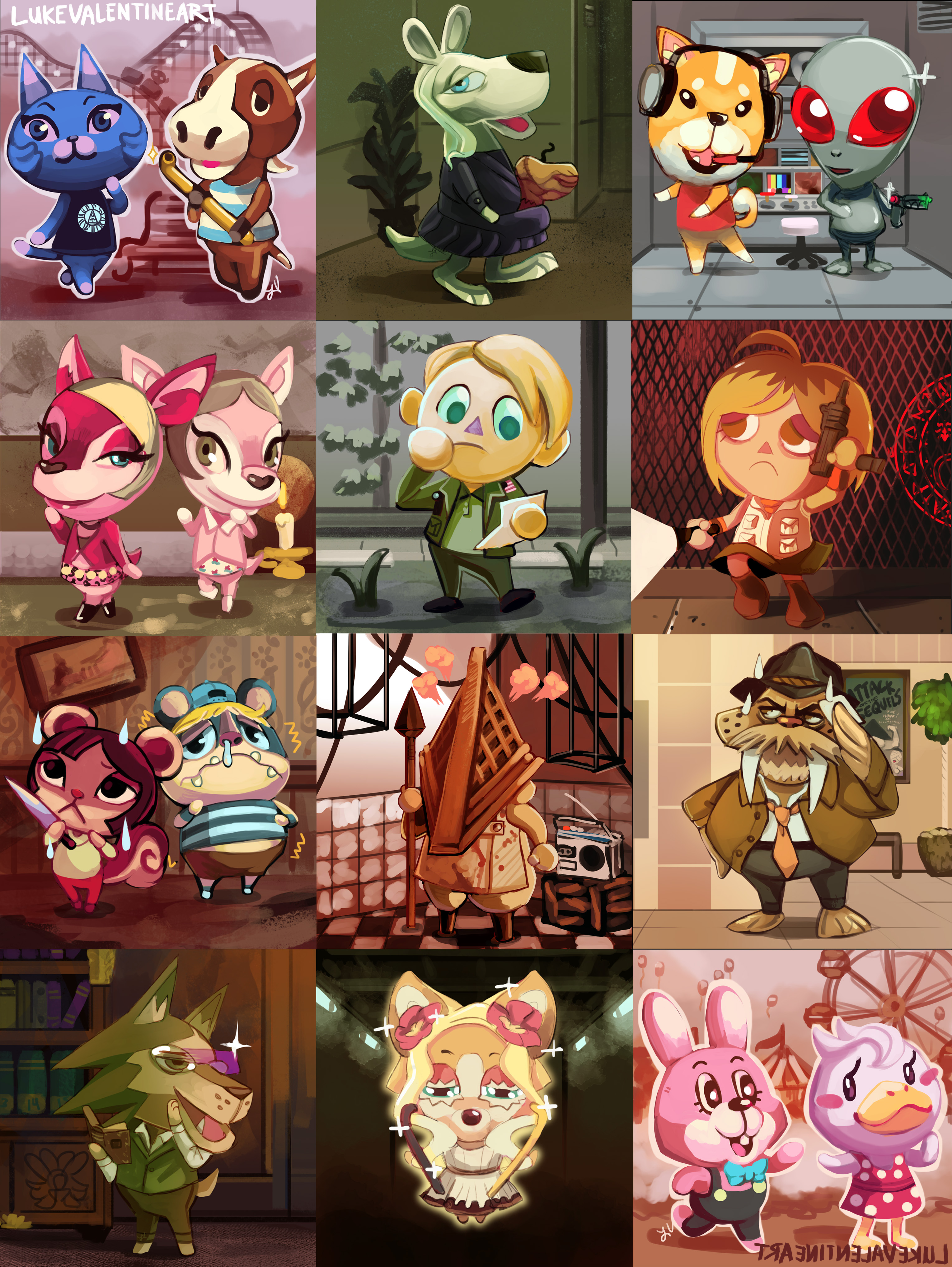 Animal Crossing X Silent Hill