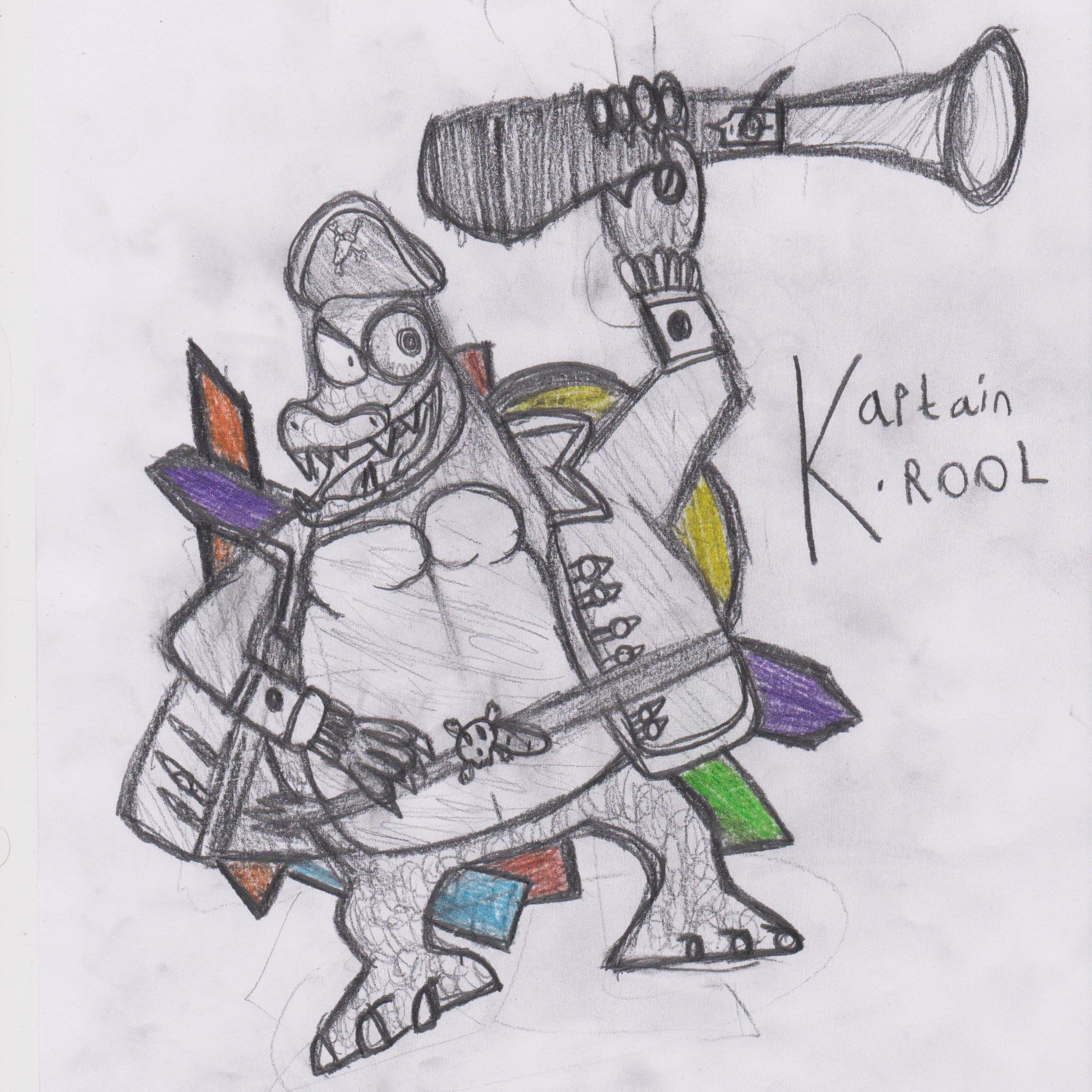 Kaptain K.Rool (DK Vine DKC2 Relay Art Contest Submission)