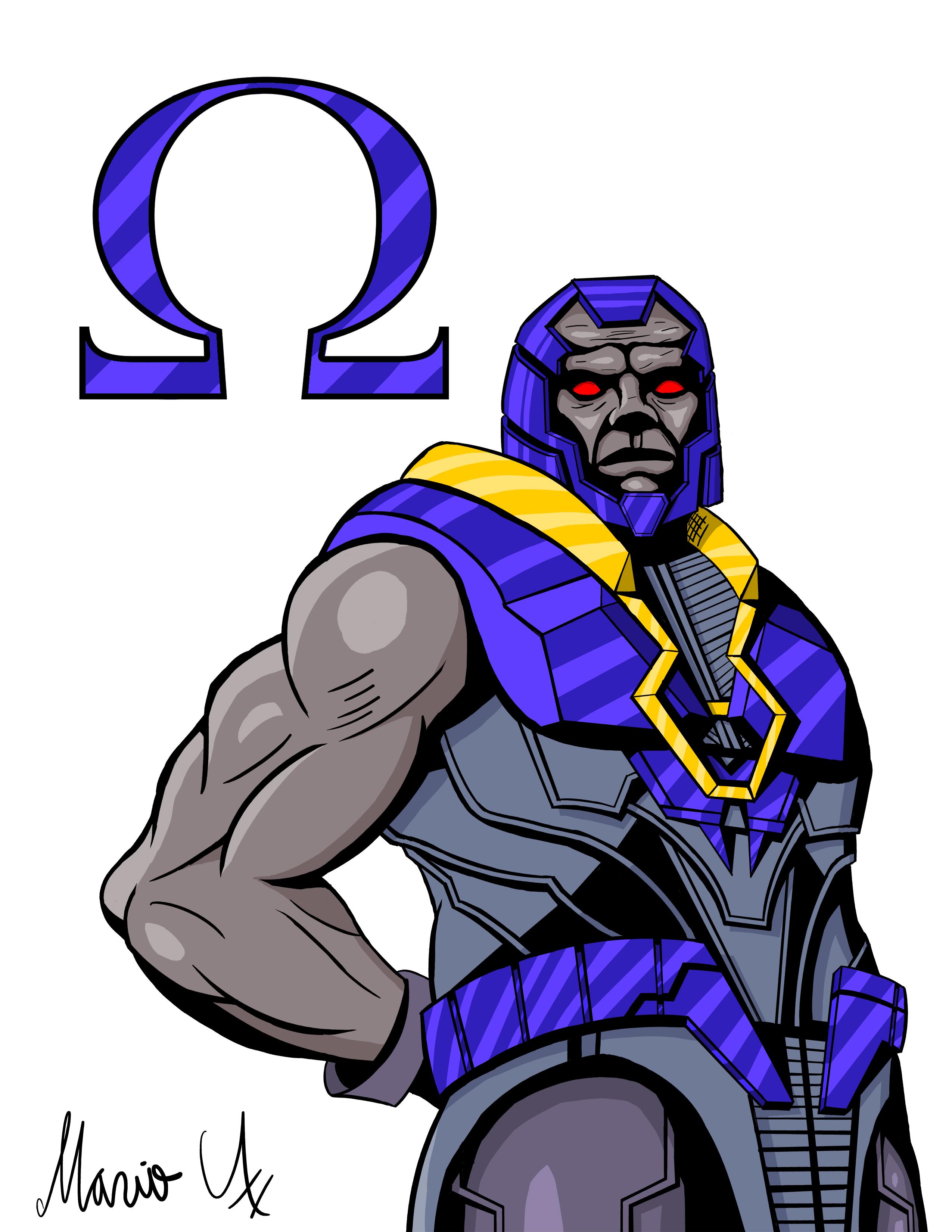 Injustice 2 Darkseid Colored