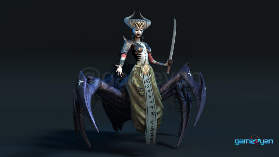Gaming Low Poly Concept Character – Spider Mistress by Gameyan 3D Character Modeling London, UK