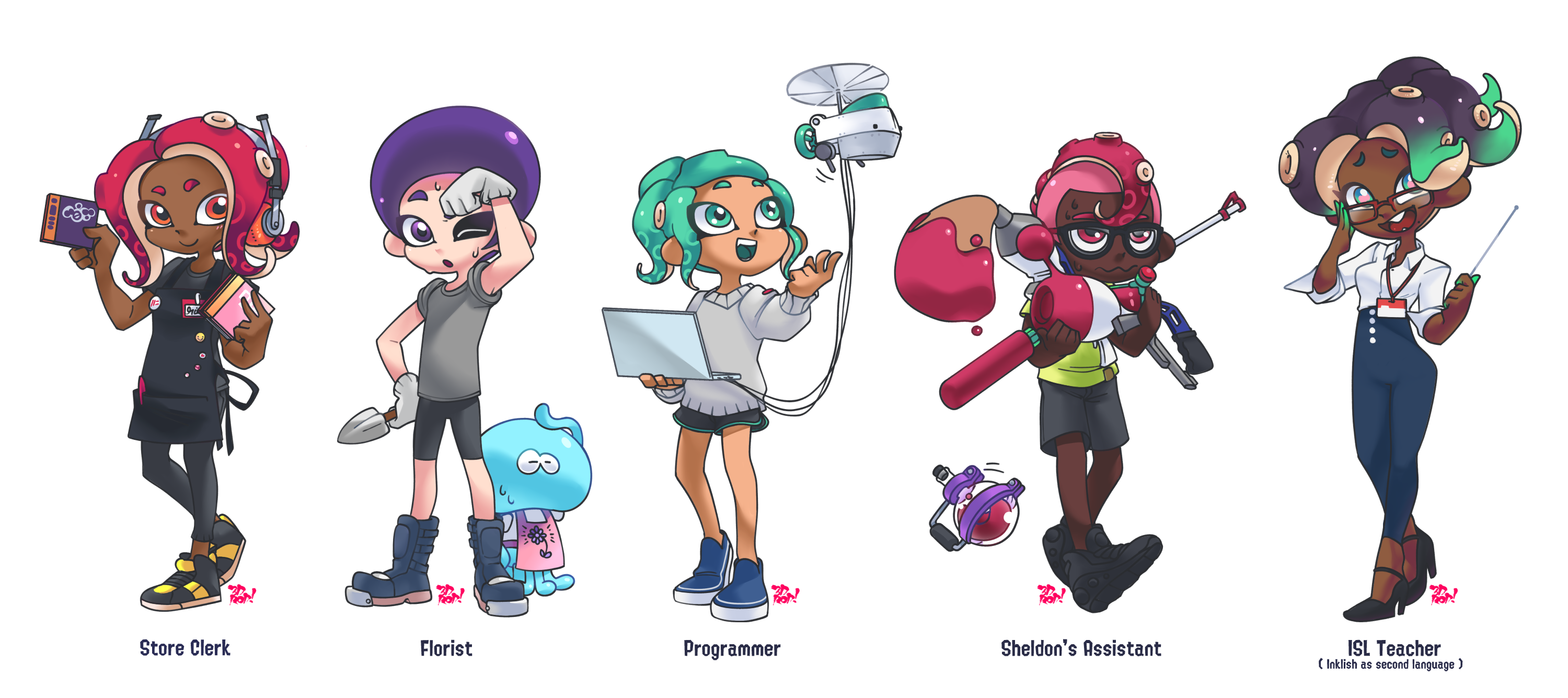 Octoling workers