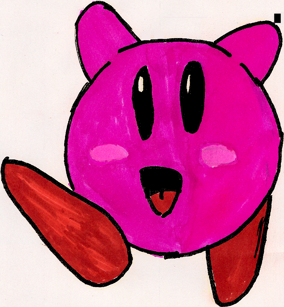 simple kirby drawing