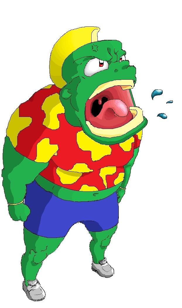 Green man with Hawaiian shirt