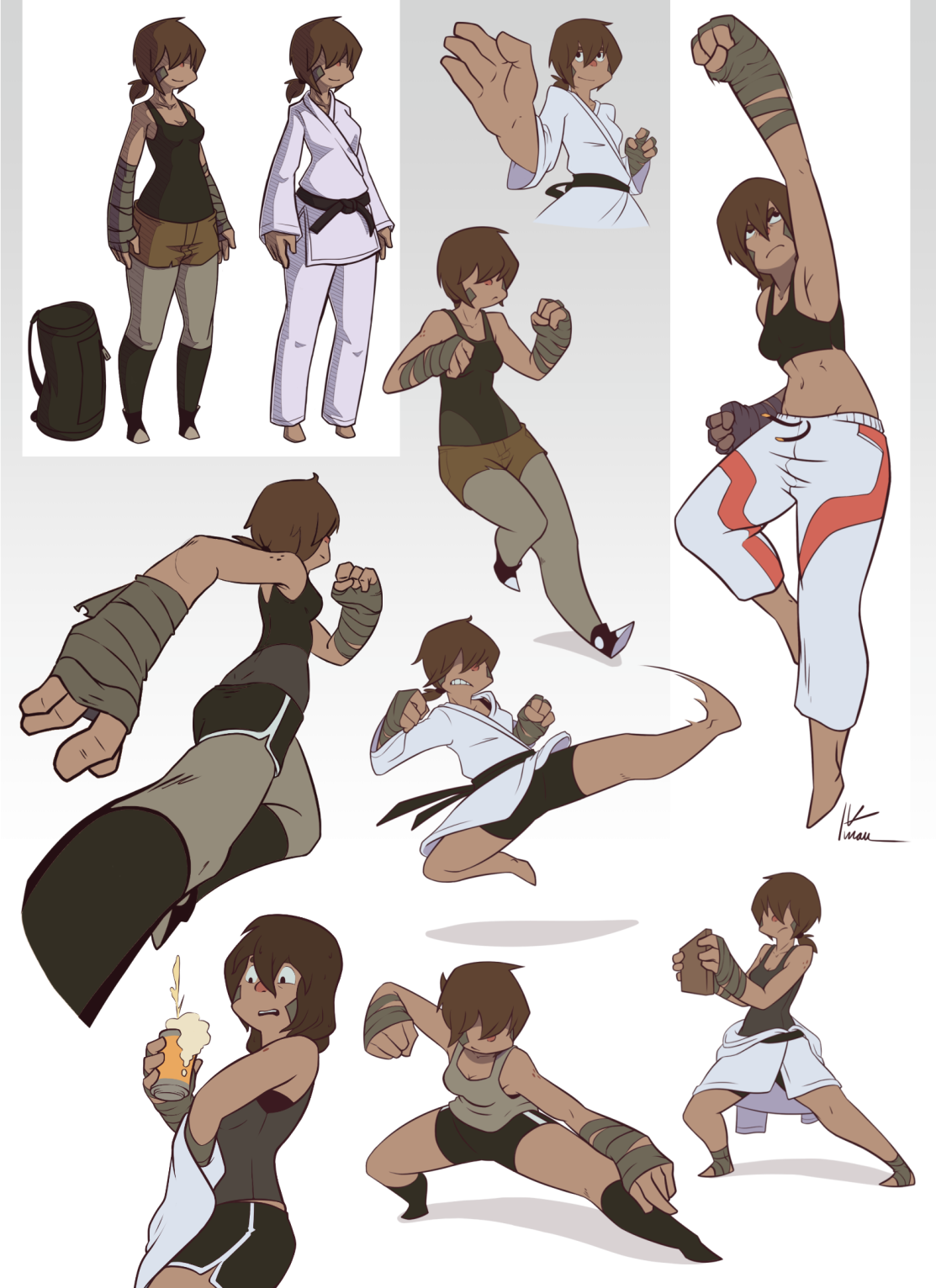 Scruffy character drawings