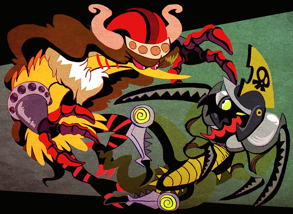 A Battle of Birds and Bugs.