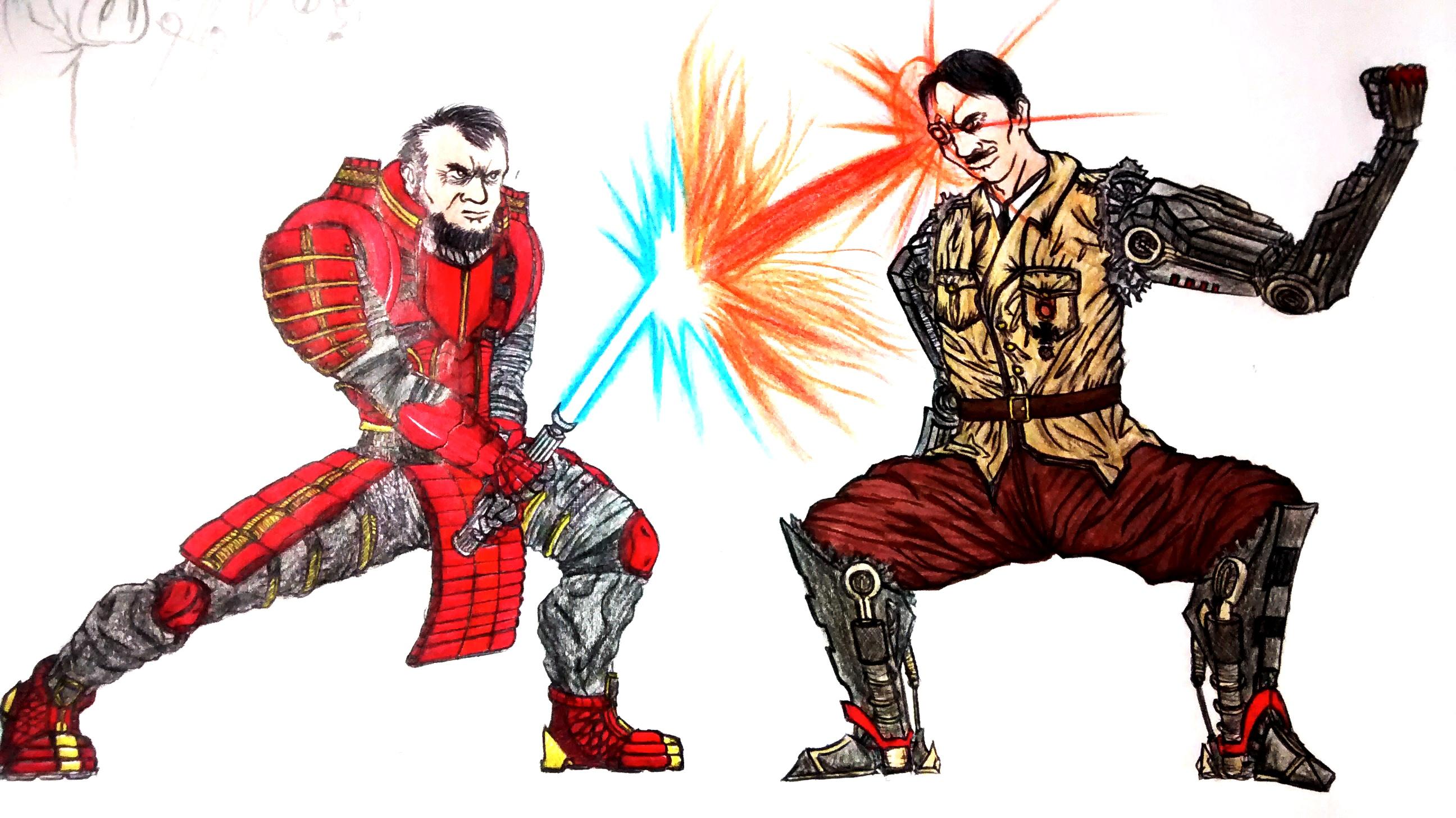 Jedi Samurai Lincoln vs Cyborg Hitler(2016)