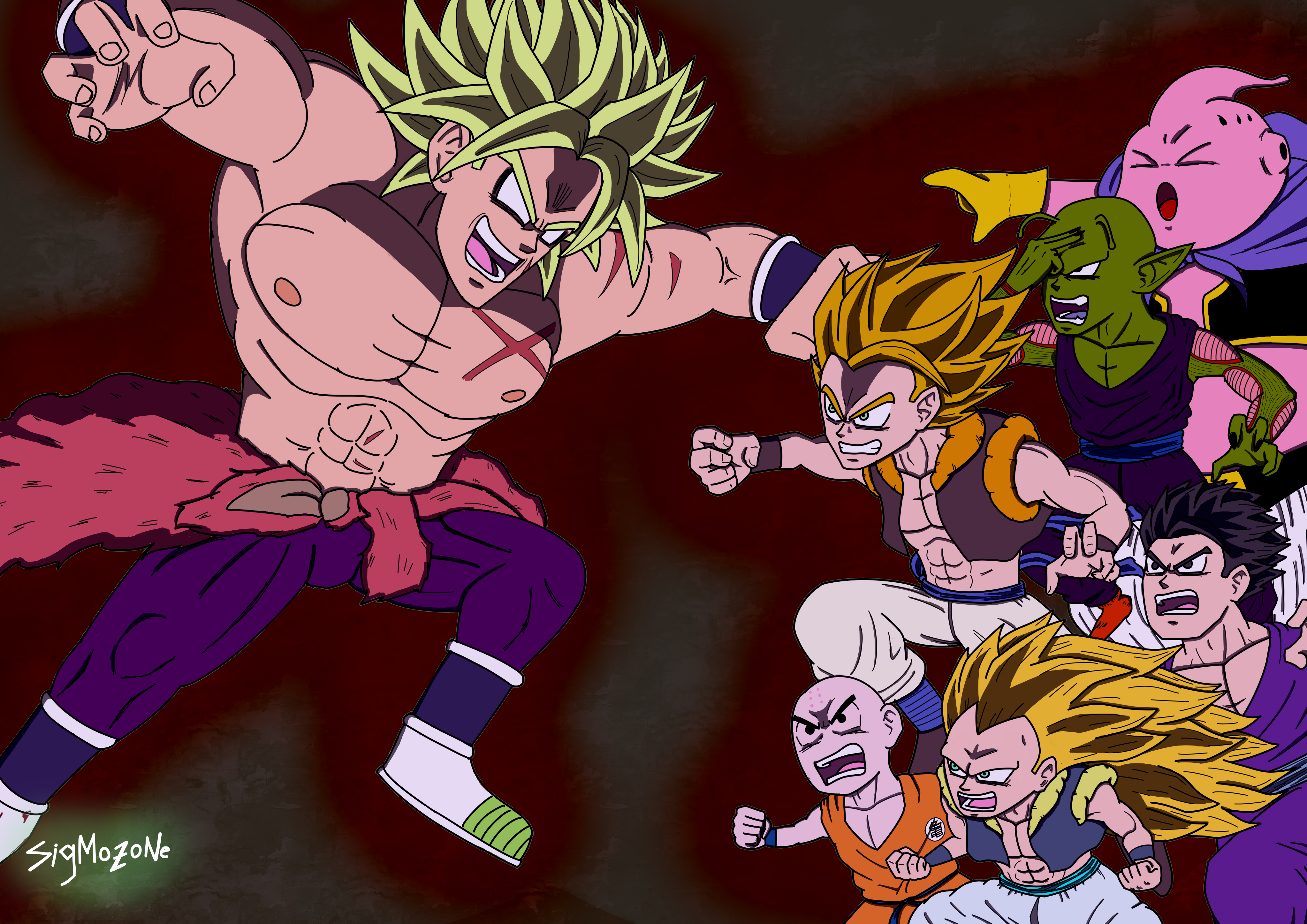 Broly Vs Gogeta Z Fighters By Sigmozone On Newgrounds