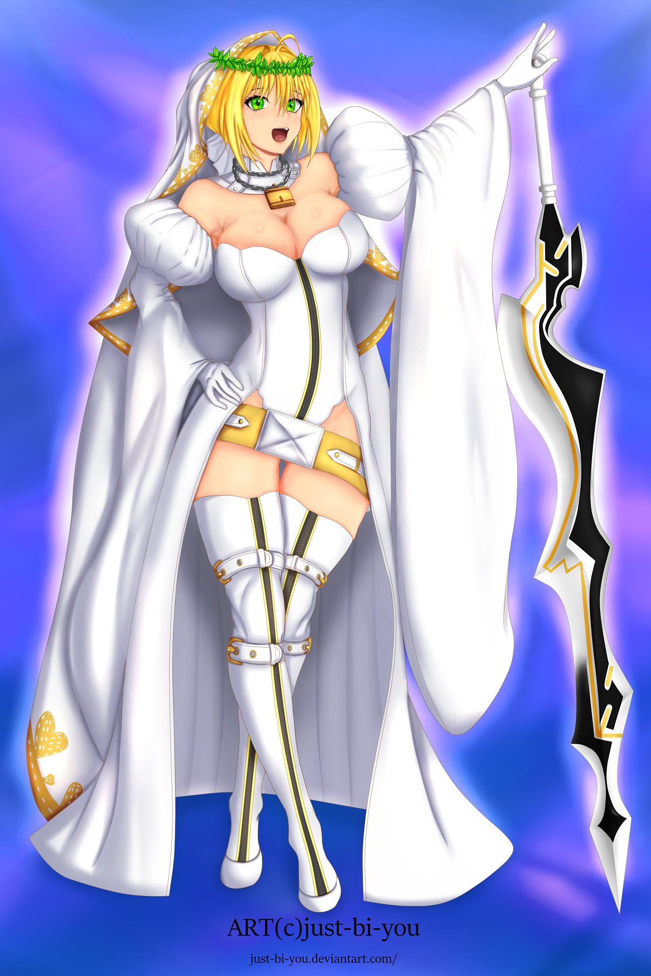 Nero Bride Fanart (Blue Platinum) by Just-BI-You on Newgrounds