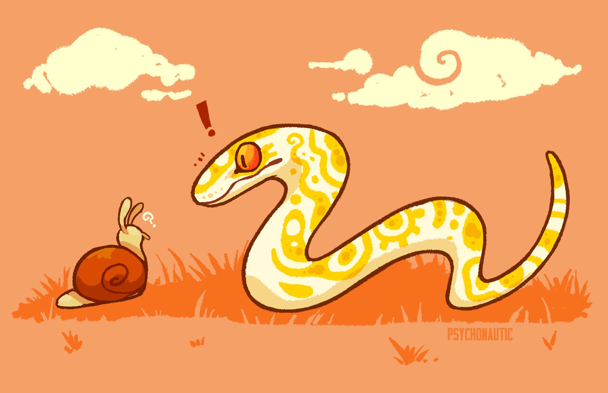 Skittish snake