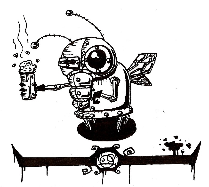 Robo Fly with Cup of Turd
