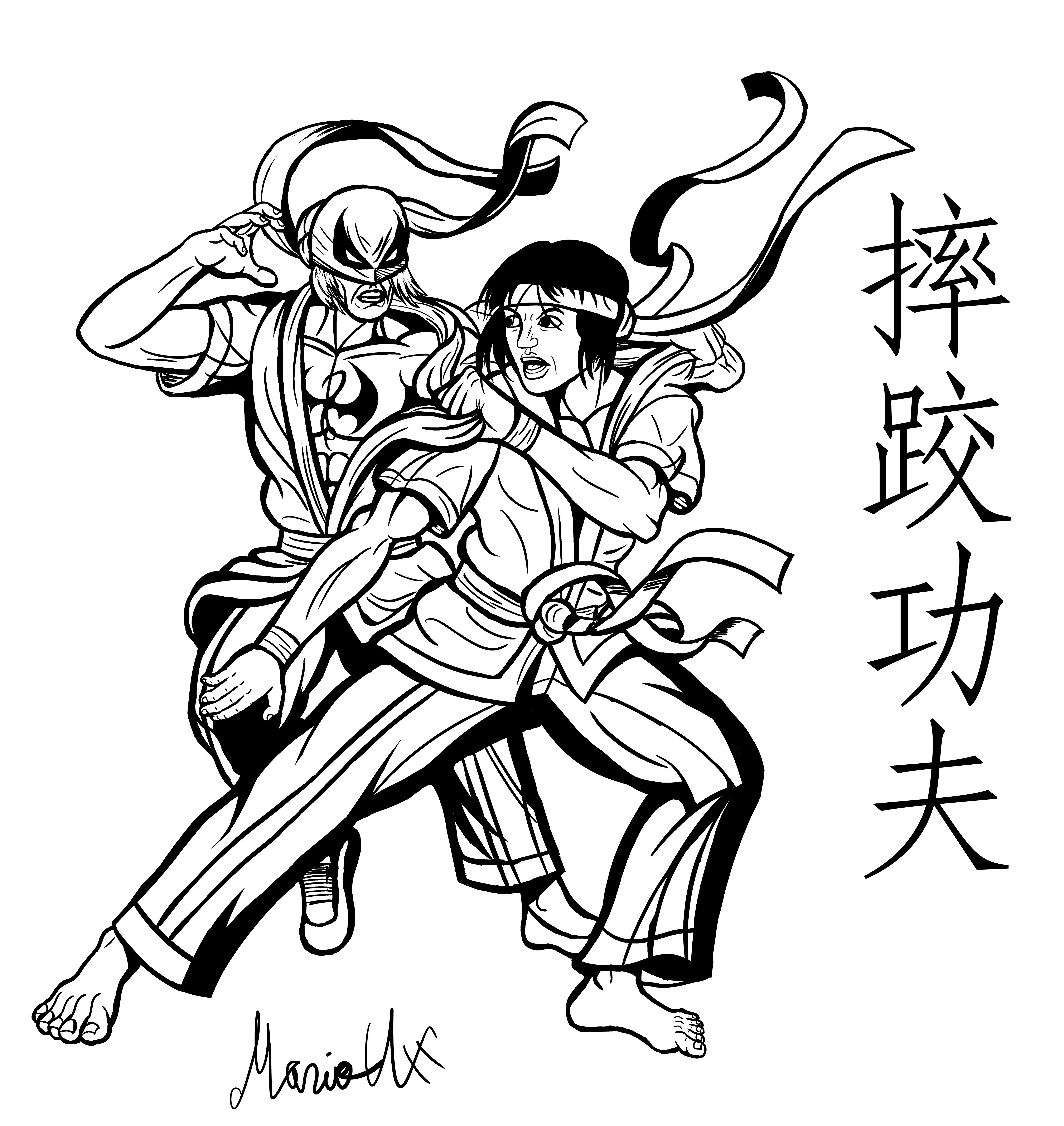 Shuai Jiao Iron Fist and Shang Chi inked