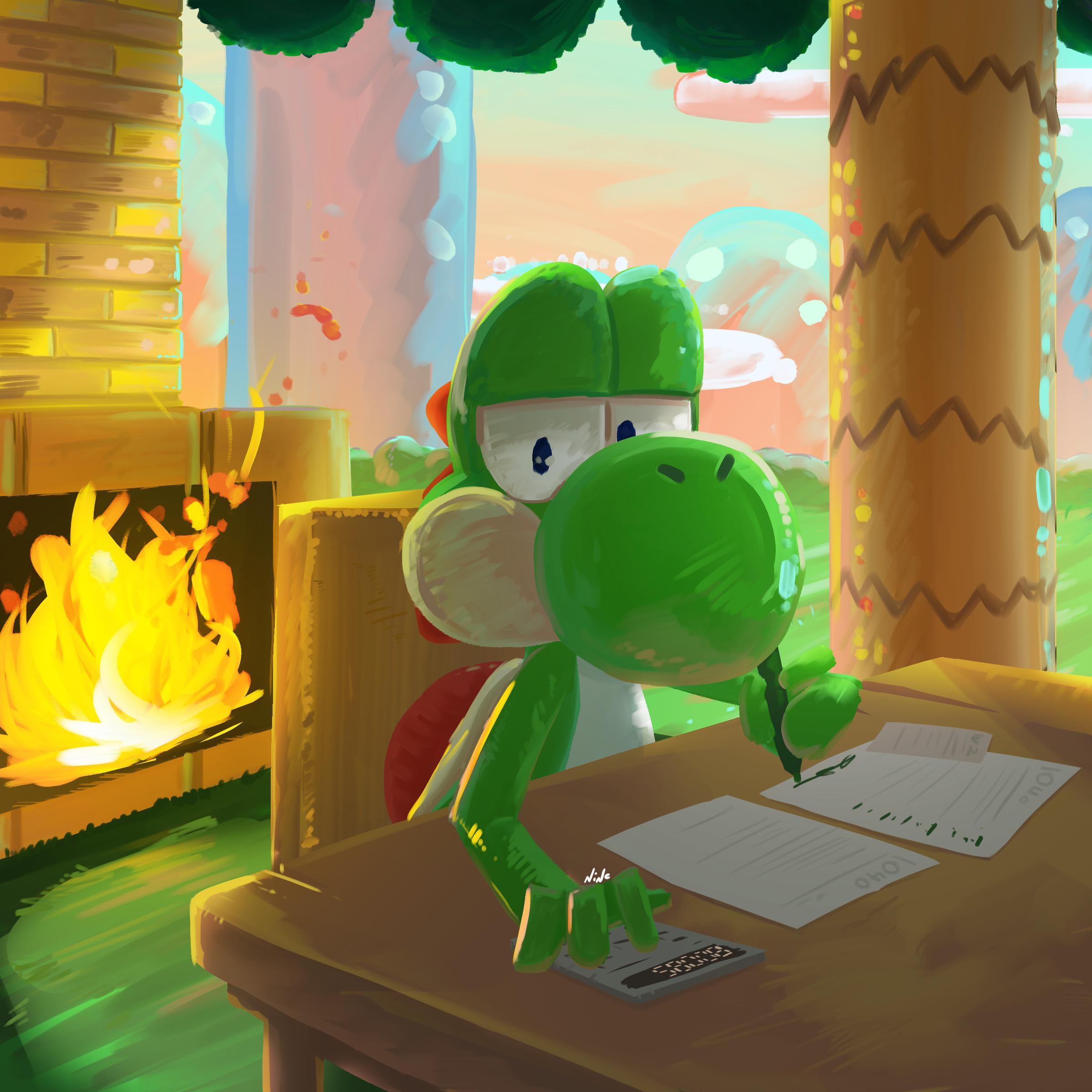 Yoshi Finally Does His Taxes.