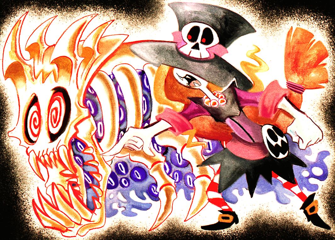 Watercolor Ghouls
