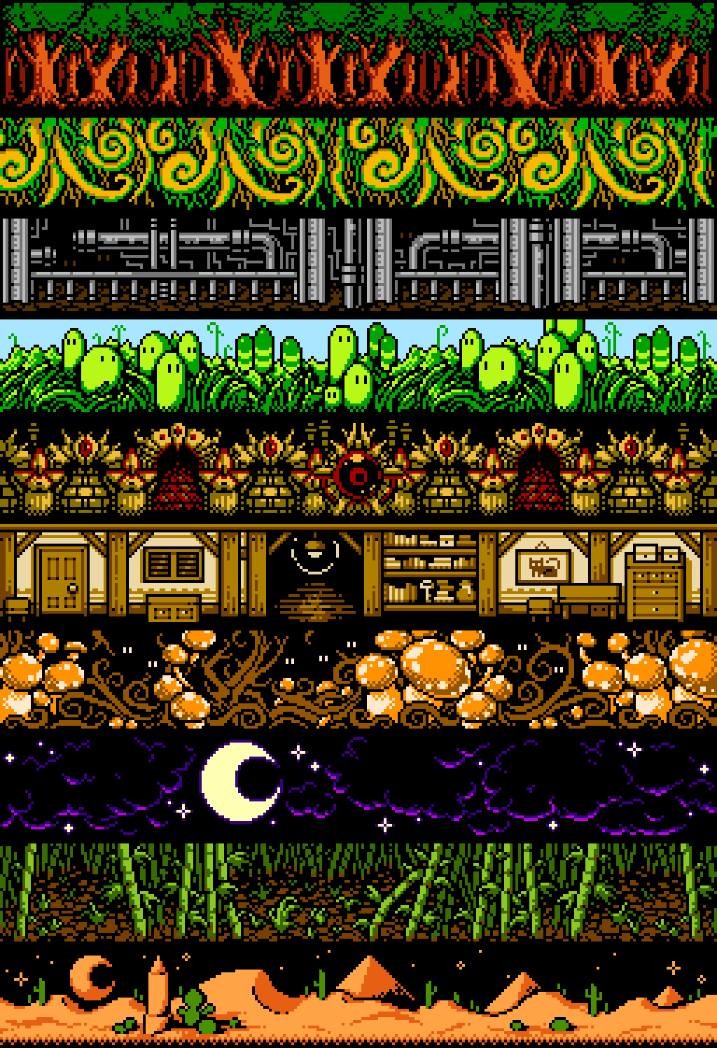 NES Backgrounds